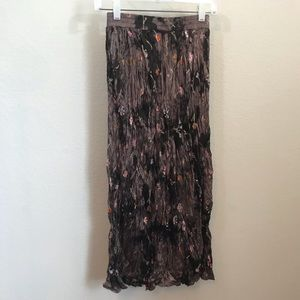 Vintage Clio Broom Stick Skirt Sz S Brown Floral